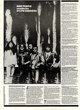 3/11/84pg27/28 Vintage Article & Picture, Deep Purple