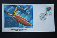 FIRST MAN TO FLY FASTER THAN SOUND MAN'S CONQUEST OF THE HEAVENS COVER FDC