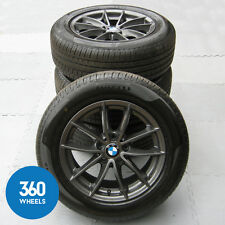"GENUINE BMW 17"" X3 X4 304 M SPORT V SPOKE ALLOY WHEELS NEW TYRES PIRELLI F25 F26"