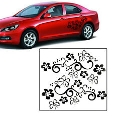 2x Butterfly Flower Vinyl Car Auto Body Surface Door Sticker Stickers Decal New