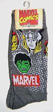 MENS MARVEL COMICS THOR HULK IRONMAN SUPER HEROES 2 PAIR PACK SOCKS