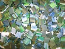"100 1/2"" Mountain Meadow Green Tumbled Stained Glass Mosaic Tiles"