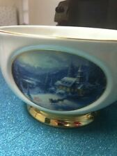 "THOMAS KINKADE ""SUNDAY EVENING SLEIGH RIDE"" BOWL - A Teleflora Gift"