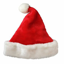Christmas 2015 Party Santa Hat Velvet Red And White Cap for Santa Claus Costume