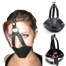 Slave Roleplay Facemask Harness + Silicone Mouth Ball Fetish Fixation Costume
