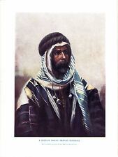 Bedouin Sheikh wearing burnouse. Scarce print Circa 1910