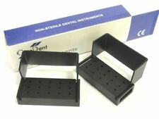 Dental Sterlize Aluminium Bur Disenfiction Block Holder / Box Set Of 2 New CE