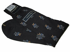 Very Rare early 1990s Polo Ralph Lauren Pima Cotton Black Polo Bear Dress Socks