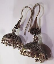 INDIAN SARI JEWELRY BOLLYWOOD BELLY DANCE STERLING SILVER CHANDELIER EARRINGS