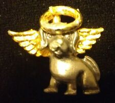 Dog Puppy Pet Angel Halo Animal Metal Pewter Gold Hat Tie Tac Lapel Pin NEW G6XB