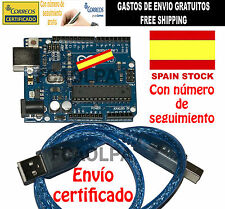 UNO R3 TIPO ARDUINO 100% COMPATIBLE  ATMEGA328P ULTIMA VERSION REV3 + CABLE USB