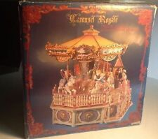 NEW RARE Enesco Victorian Era CAROUSEL ROYALE Action/Lights Calliope Music Box