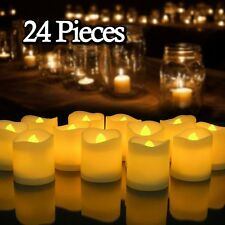 24 PCS Flameless Votive Candles Battery Flickering LED Tea Light Wedding Xmas