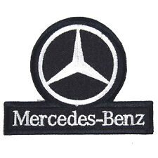 Mercedes Benz Embroidered Patch Embroidery Racing Emblem Mark 75x60mm Black