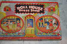 VINTAGE 1938 TRANSOGRAM DOLL HOUSE DRESS SHOP PLAY SET