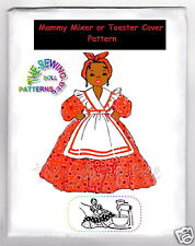 Mammy Doll MIXER OR TOASTER COVER Pattern # 671 Black American Vintage 1940's