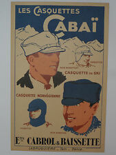 "VINTAGE FRENCH HAT/CAP COLOR ADVERTISING SIGN! 9x14""! FRANCE! VERY NICE SHAPE!"