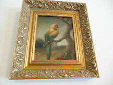 """Parakeet Museum Quality """"Masters Style"""" Reproduction Oil Painting 8X10"""