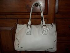Coach Hamtons White Leather Tote Shoulder Bag 13811