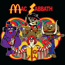Mac Sabbath black parody shirt ALL OTHER SELLERS ARE BOOTLEGGERS, NO ASIA! Med