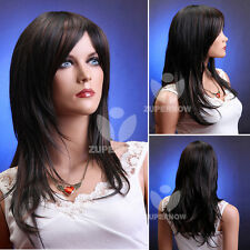 Long Straight Women Wig Brown Color Female Wigs Synthetic 100% Japanese Hair