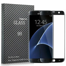 3D Full Tempered Glass Film Screen Saver For BLACK Samsung Galaxy S7 Edge