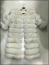 100% Echt Pelz Fuchs Fell Mantel Luxus Coat Moderne Jacke