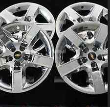 "(4) Chrome Wheel Covers Hub Caps Fits 17"" 2008-2012 Chevrolet Malibu OEM GM Part"