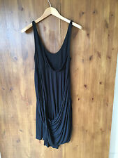ALL SAINTS SHIFT DRESS Black Jersey SMALL / UK 8 / EUR 36 - VGC