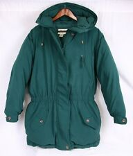 EDDIE BAUER Green Winter Parka Jacket Goose Down Insulated Coat Women Medium MT