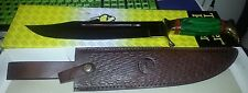 Timber Rattler Big Green Bowie Knife TR74 New