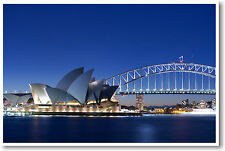 Sydney Opera House & Harbor Bridge Australia - Travel Print - NEW POSTER