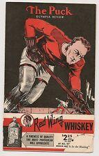 1934-35 Detroit Red Wings-Americans Program Teams Skate to Stalemate RARE!!