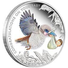 2016 Newborn Baby, 1/2oz Coloured Silver Proof Coin, Perth Mint Australia