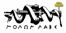 Molon Labe Spartans 300 AR15 with Snake Die Cut Decal/Sticker Choose Color GN43