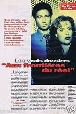 Coupure de presse Clipping 1996 David Duchovny & Gillian Anderson  (4 pages)