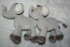 MOTS D'ENFANTS 2 DOUDOU ELEPHANT GRIS ECRU MARRON EXCELLENT ETAT KOM9