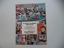 advertising Pubblicità 1978 GRAPPA JULIA e SAGRA DEL PESCE A BURANO