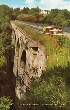 POSTCARD:  Wales Chirk Aquaduct and Llangollen Canal unposted Salmon