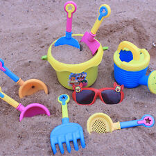9x Sand Shovel Spade Bucket Rake Beach Pit Play Kids Seaside Water Tools Toys