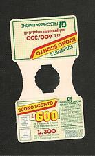 BUONO SCONTO L.600 CIF FRESCHEZZA LIMONE Pubblicità Advertising 1970/80 vintage