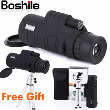 BOSHILE 10X42 Focus Zoom Lens Portable Travel HD OPTICS BK4 Monoculars Telescope