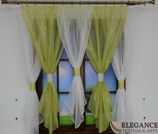 READY MADE LARGE  NET CURTAIN - DIFFERENT COLOURS