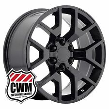 22 inch OE Performance 169GB GMC Sierra Wheels Gloss Black 22x9 Rims Chevy 6 lug