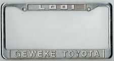 RARE Lodi California Geweke Toyota JDM Vintage Dealer Metal License Plate Frame