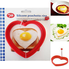 New TALA Egg Poacher Heart Silicone Ring Poachette Quality Mould Kitchen Steamer