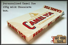 Personalised 100g Camel Toe milk Chocolate box, Great Gift Idea.