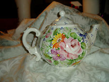 Vintage Porcelain Flower Tea Pot, Marked Made in ITALY