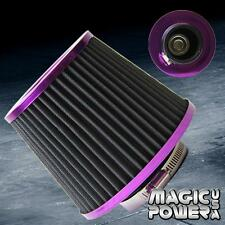 "3""Universal Inlet Short Ram Cold Intake Round Cone Air Filter PURPLE KN Type"
