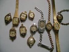 LOT 12 VINTAGE LADY WIND UP WATCH,PARTS OR RESTORE